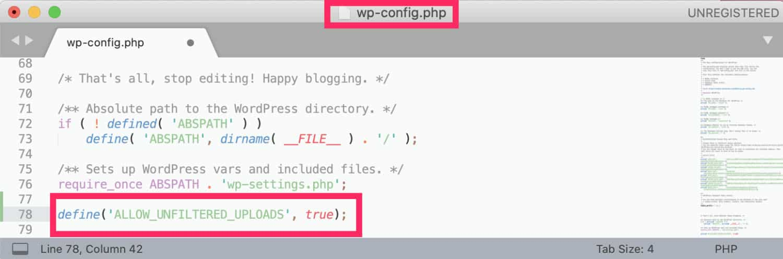 Wp Config Fichier