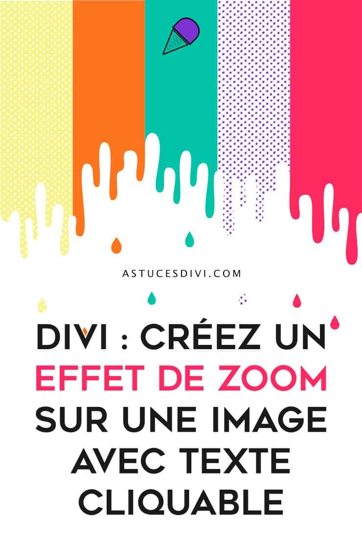 Effet Zoom Image Divi
