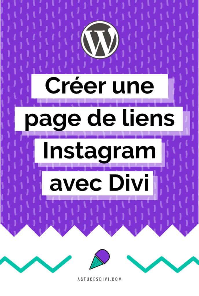 Page Lien Instagram Divi