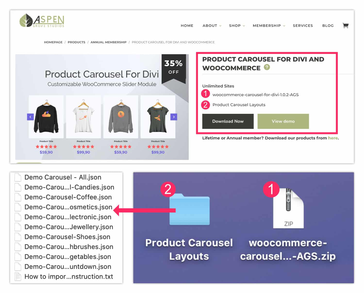 Achat Plugin Product Carousel