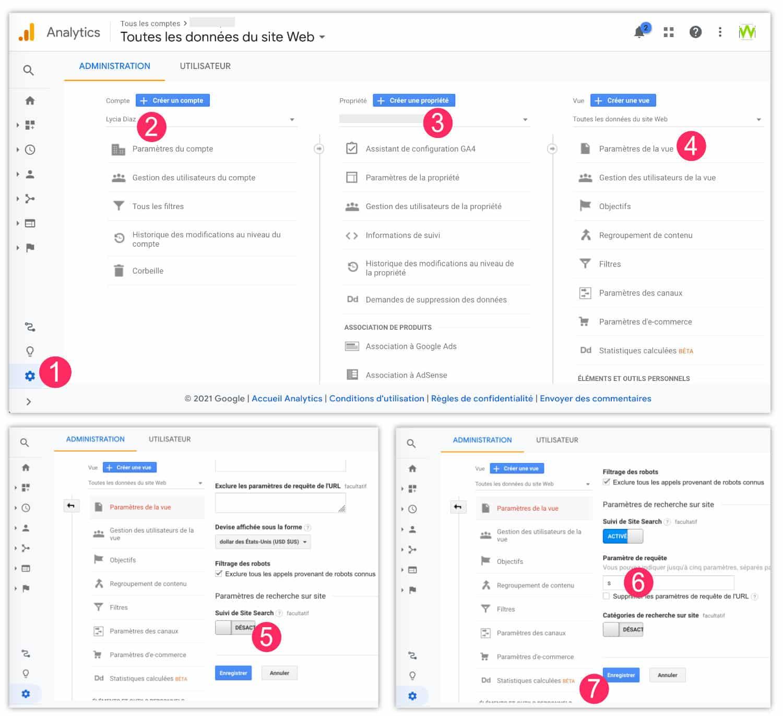 Activer le suivi Site Search de Google Analytics
