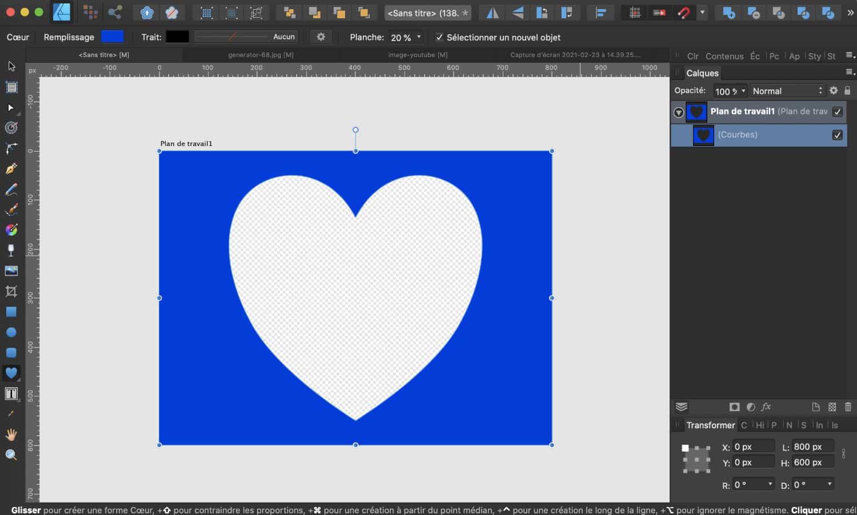 Créer un masque dans le logiciel de retouche d'image
