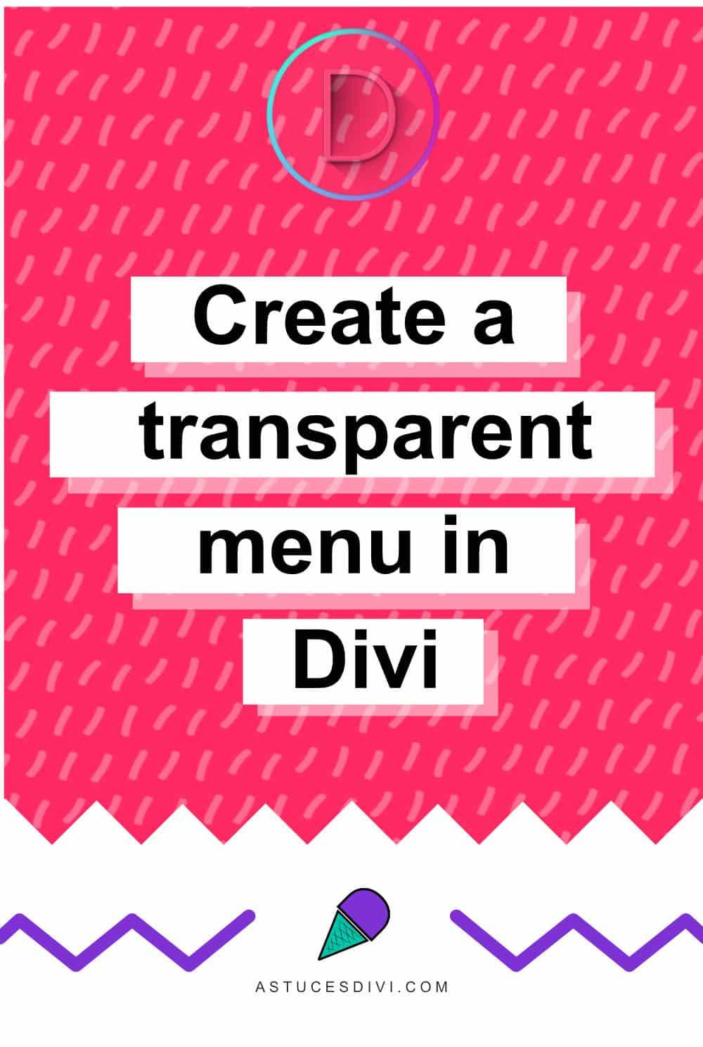 Transparent Divi menu