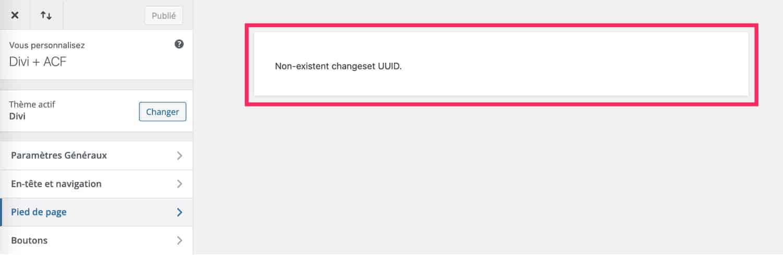 Non-existent changeset UUID