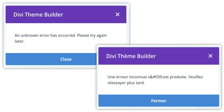 impossible de charger le theme builder
