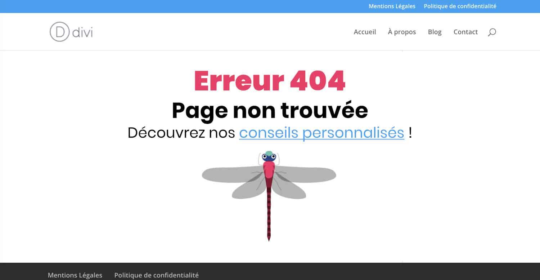 Page erreur 404 personnalisée