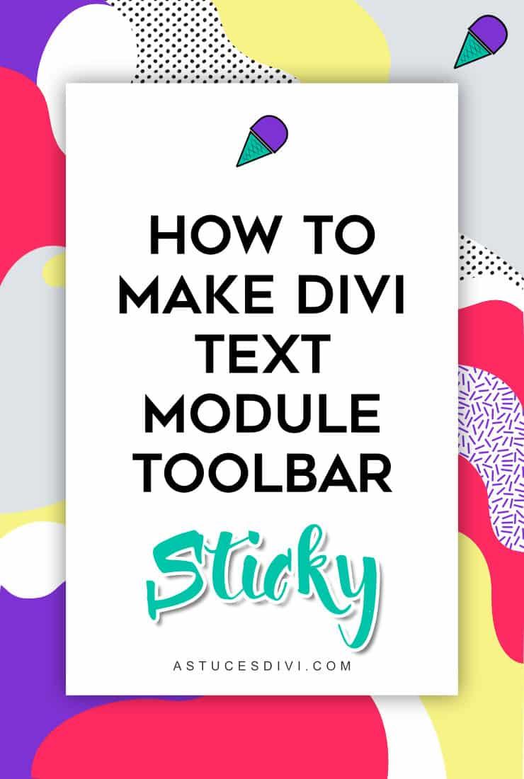 sticky toolbar Text module