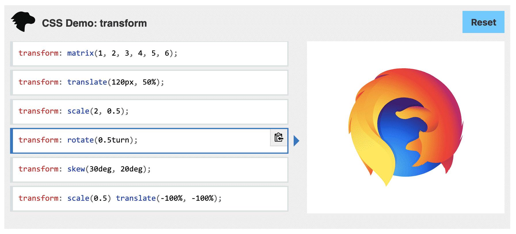 Propriété CSS Transform